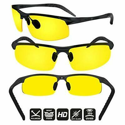 Day & Night Vision POLORIZED Driving Glasses UV400 Sunglasses Eyewear With Case (Polorized Sun Glasses)