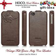 iPhone 4S Leather Flip Case Brown