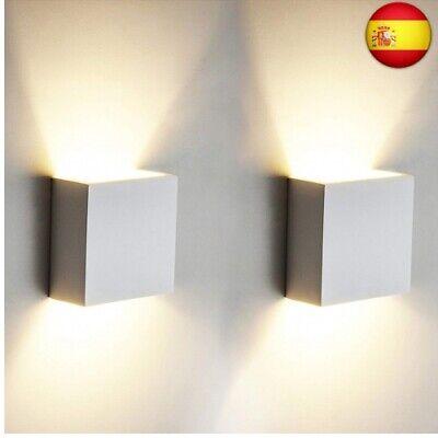 2 pcs. 6W LED de pared Arriba abajo Lámpara de pared interior...