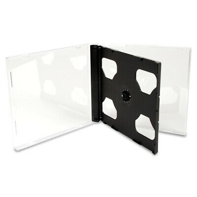 10.4mm Double Clear Cd Dvd Jewel Cases With Black Tray Standard Size Hold 2 Disc