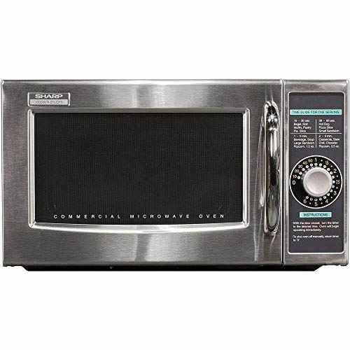 Sharp R-21LCFS Medium Duty Commercial Microwave (Dial Timer, 1000-Watts, 120-Vol