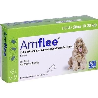 AMFLEE 134 mg Lösung z.Auftropfen f.mittelgr.Hunde 3 St PZN 11099817