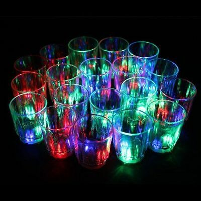 24 Flashing Light up Cups Flashing Shots Light 24 LED Bar Night Club Party Drink