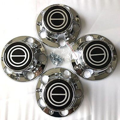 Used, 1980-1996 FORD F150 BRONCO VAN Chrome Wheel Hub Center Caps BLACK Center 4 PCS for sale  Houston