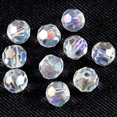 Lot de 30 perles à FACETTES 4mm en Cristal de Bohème Cristal...
