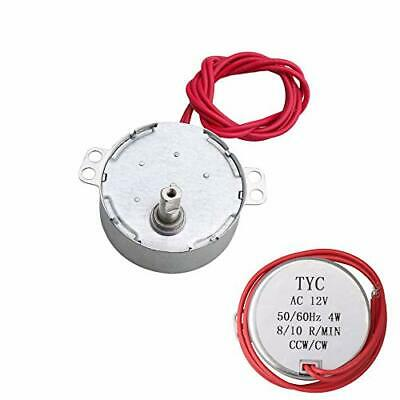 Yibuy 12v Ac Low Speed Synchronous Electric Gear Motor 8-10 Rpm Speed Cw Ccw ...