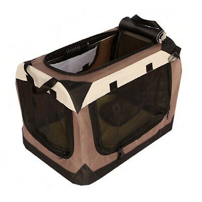 Transportin caseta nylon plegable Cabrio portatil grande 70x52x52 cm