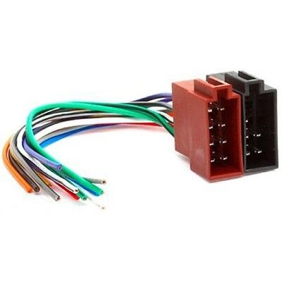 Universal Female ISO Radio Plug Adaptor Wiring Harness Loom Cable Stereo Replace