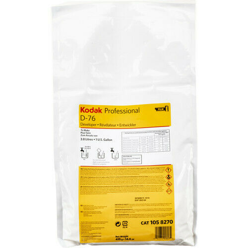 Kodak D-76 Developer Powder makes 1 Gallon for Black and White Film 1058270