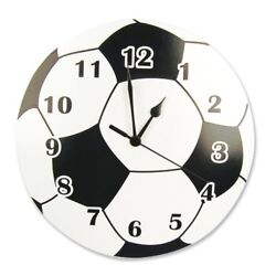 Silent Wall Clock Trend Lab Soccer Ball Quartz Home Room Decorative