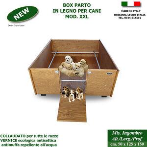 Cassa parto box in legno xxl per cani cucce scatola for Retex box cani