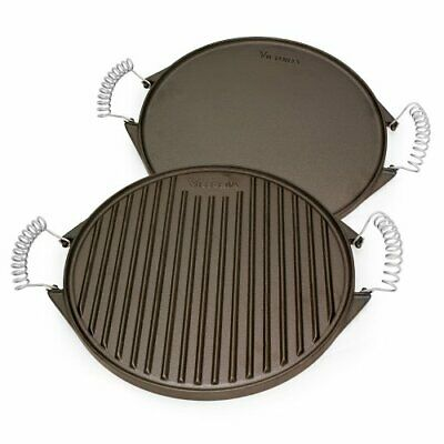 Victoria Reversible Cast Iron Round Griddle ,GDL-156 Reversible Round Griddle