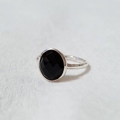 New QVC/HSN/Evine Artisan Crafted Sterling Silver Faceted Black Onyx Ring