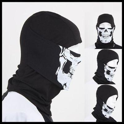 White Skull Balaclava Full Face Mask New Outdoor Sports Bicycle Ski Skateboard