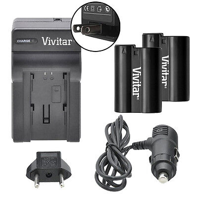 Vivitar Dual Battery EN-EL15 & Charger Kit for Nikon D610 D7000 D7100 D7200 D750