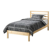 IKEA SINGLE BED FRAME WITH SLATS, $70 firm