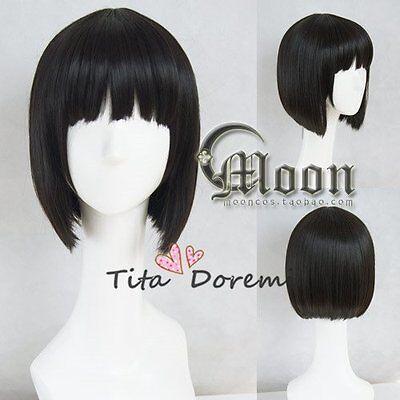 Halloween Perücke Cosplay DuRaRaRa!! Sonohara Anri black fashion Kurze Haar ()