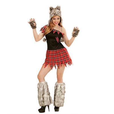 Womens Ladies Wolf Lady Werewolf Halloween Fancy Dress Costume Outfit M (Wolf Lady Kostüm)