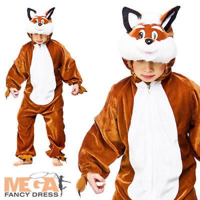 Woodland Animal Costumes (Kid's Fantastic Fox Woodland Animal Fancy Dress Child Boys Girls Costume 3-13)