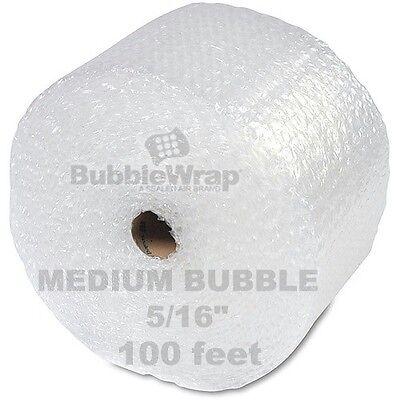 "Bubble Wrap 100 ft  x 12"" Medium wPerf Sealed Air 5/16"