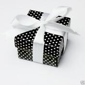 Black and White Wedding Favour Boxes
