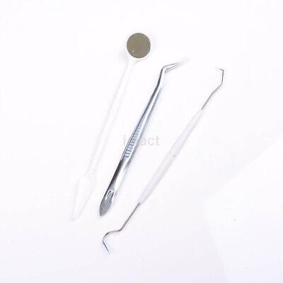 3pcs Instruments Basic Dental Set Mirror Explorer Probe Pliers 3 kind Hot CA