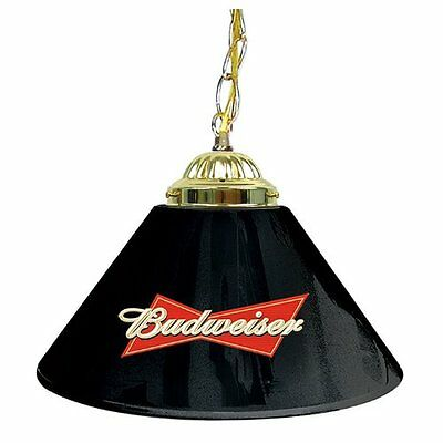 - Pool Table Lamp Shade BUDWEISER Black Hanging Bar Lights Billiard Man Cave Decor