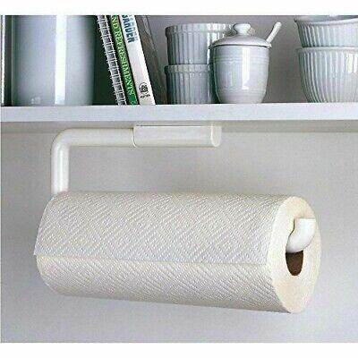 NEW InterDesign Paper Towel Holder, Swivel Wall-Mount, White Plastic #35001