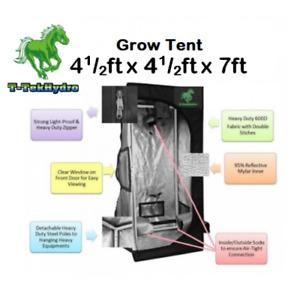 TTHYDROPONIC: T-TekHydro GROW TENT 4 1/2ft x 4 1/2ft x 7ft