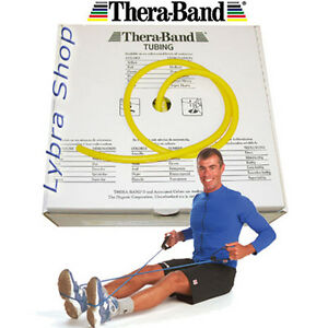 TheraBand-TUBO-ELASTICO-pilates-GIALLO-sottile-1-5mt-TUBING-Thera-Band
