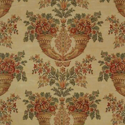 3 YD BURCH FABRICS SAMUEL HONEY FLORAL TRADITIONAL THICK WOVEN UPHOLSTERY FABRIC