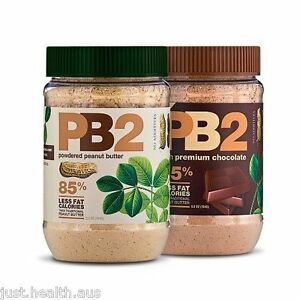 Bell Plantation PB2 Natural + Chocolate Powdered Peanut Butter 2 x 184g Duo Pack