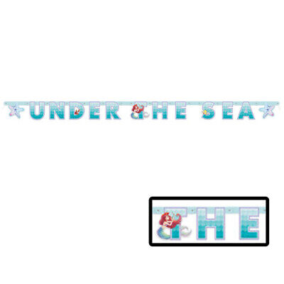 ARIEL THE LITTLE MERMAID Under the Sea JOINTED BANNER ~ Party Supplies Hanging