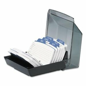 Rolodex Petite Covered Tray Card File