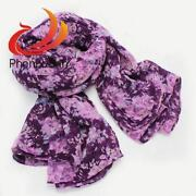 Purple Flower Scarf