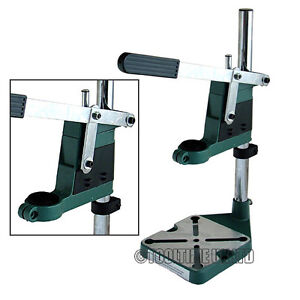 PLUNGE POWER DRILL PRESS STAND BENCH PILLAR PEDESTAL CLAMP + DEPTH GAUGE