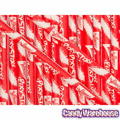 100 CHERRY WONKA PIXY STIX SUGAR STRAWS CANDY PARTY FAVORS GOODY BAGS BEST PRICE