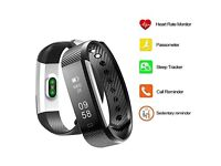 Fitness Bracelet Trackers, FitX Heart Rate Monitor Water resistant Activity Tracker with Pedometer