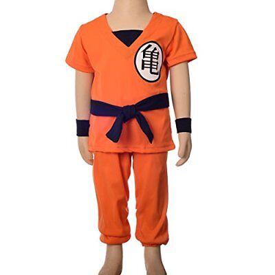 Kids GoKu Costume Dragon Ball Z Halloween Set Boys Anime Party Dress Up (Kid Goku Kostüm)