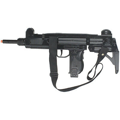Israeli Uzi Style 12 Shot Cap Rifle - Black Finish