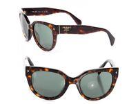 PRADA Tortoisehell Cat Eye Spr 17 Cateye Heritage Sunglasses RRP £250