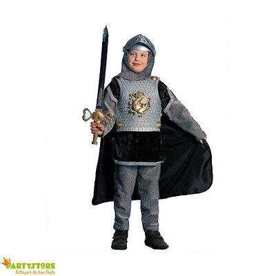 costume cavaliere 7/8 anni vestito carnevale bambino guerriero medievale