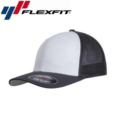 Weiß Mesh Cap (Flexfit Mesh Trucker Trucker Cap L/XL Weiß Dunkelgrau)