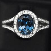 London Blue Topaz Ring White Gold