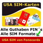 USA SIM- Daten- und Telefonkarten