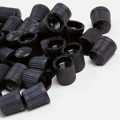 Black Plastic Valve Dust Caps Car Bike Cycle 8 Pack