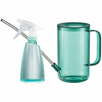Plant Watering Can 1 L Stainless Steel Long Spout Mist Spray Bottle 500 ml Green