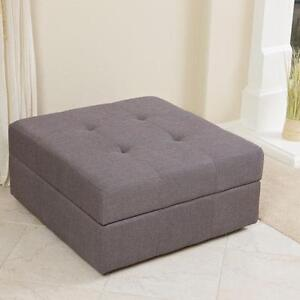 Large espresso leather storage ottoman coffee table ebay - Coffee Table With Ottoman