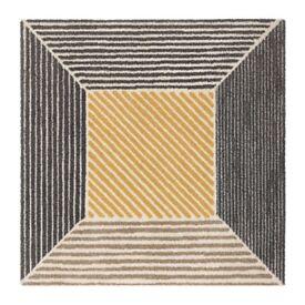 IKEA BIRKET rug yellow/grey