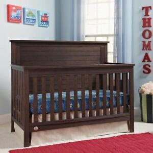 *NEW* Fisher-Price Lucas 4-in-1 Convertible Cribs - Wire Brushed Brown